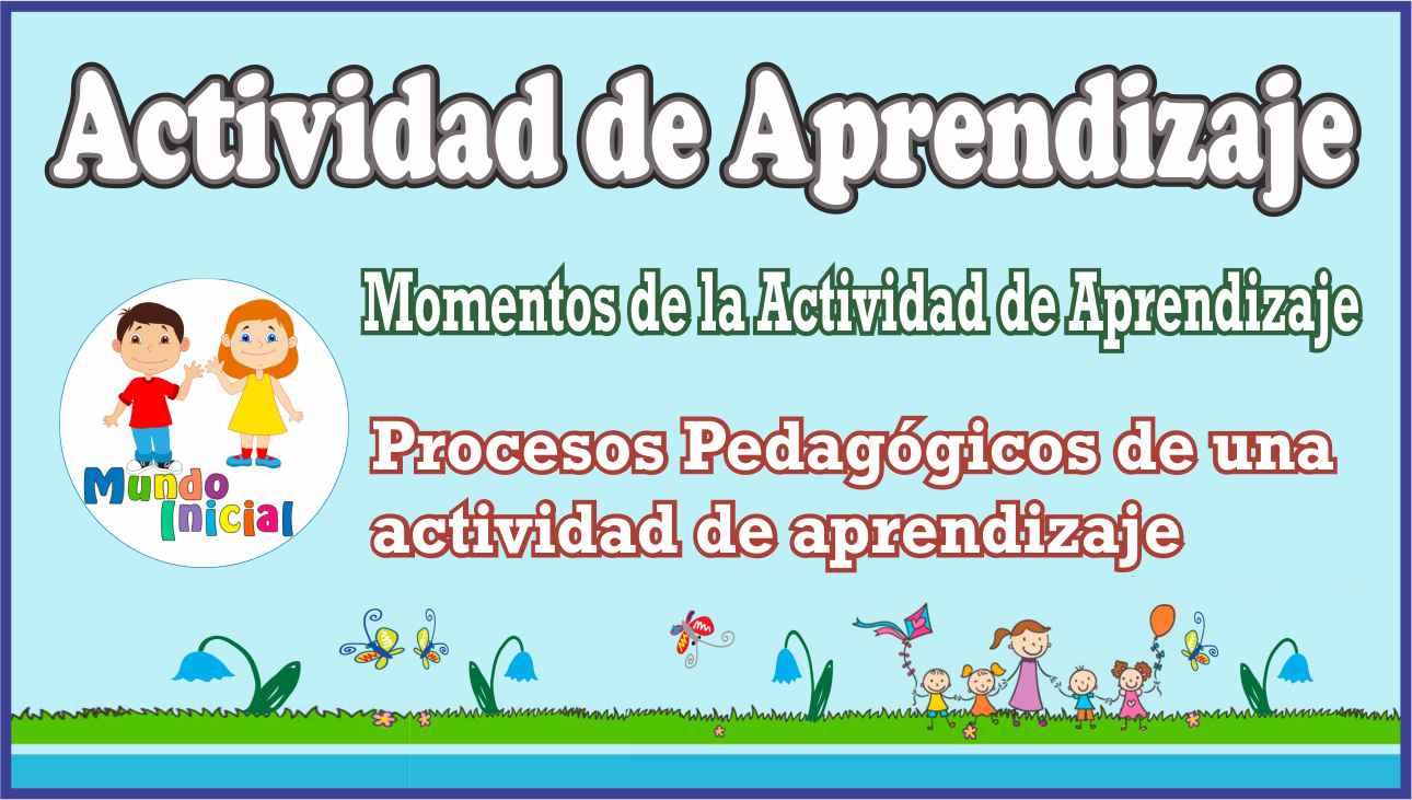 Actividad de aprendizaje en educación inicial